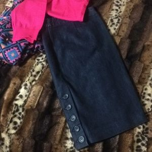 EXPRESS Dark Denim Pencil Skirt zs 12